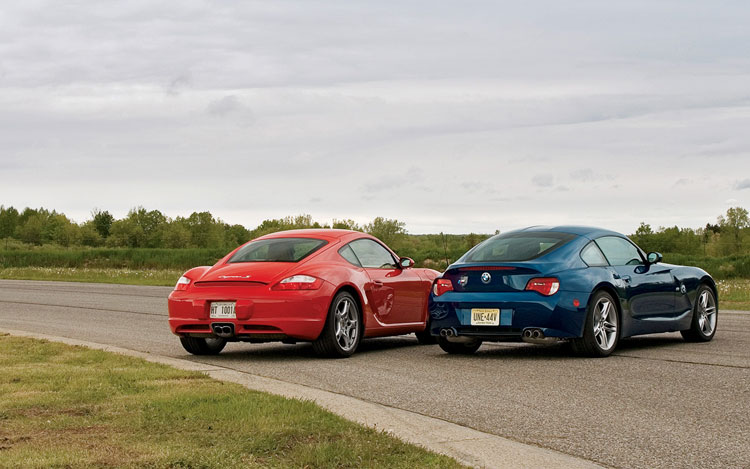 Head To Head 2006 Porsche Cayman S Vs Bmw Z4 M Coupe Motor Trend