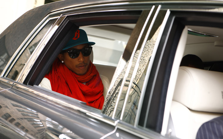 Rapper Pharrell Williams Celebrity Drive Motor Trend