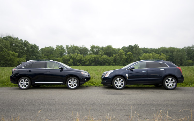 Comparison: 2010 Cadillac SRX vs. 2010 Lexus RX 350 ...