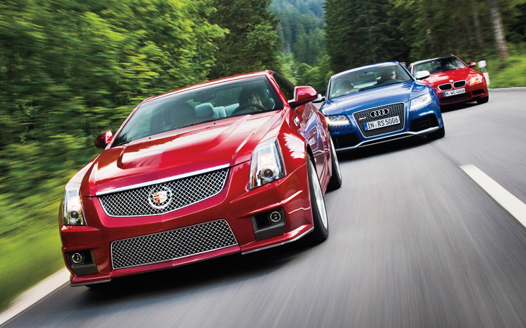2013 Audi Rs 5 Vs 2011 Bmw M3 Vs 2011 Cadillac Cts V Wallpaper