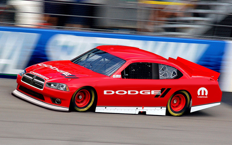 Dodge Plants New Crosshair Grille on NASCAR Sprint Cup Charger ...
