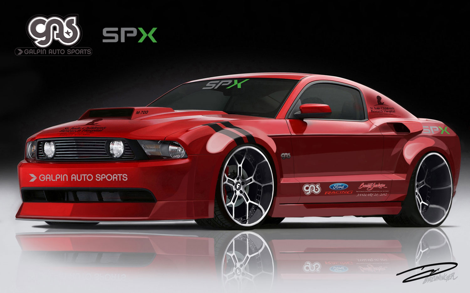 For a good cause 700 hp ford mustang to hit auction block