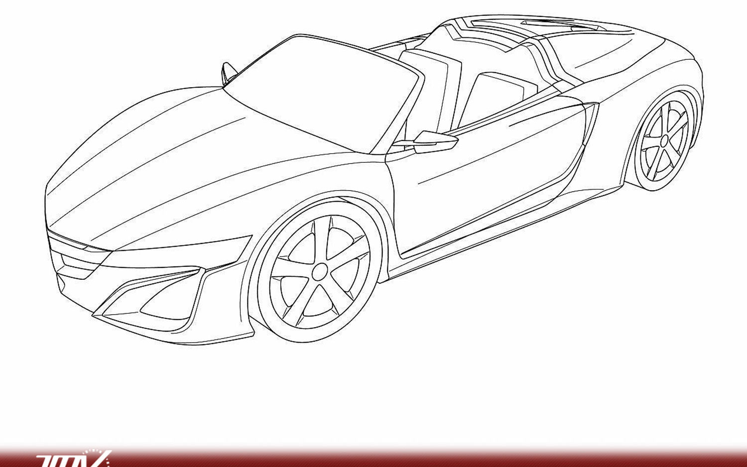 Acura NSX Spider Design Revealed In Patent Application?