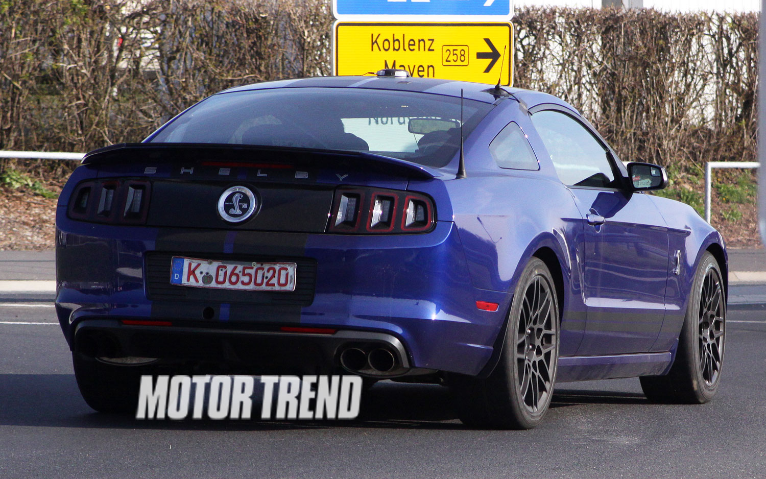 Ford Shelby Gt Spied At The Nurburgring