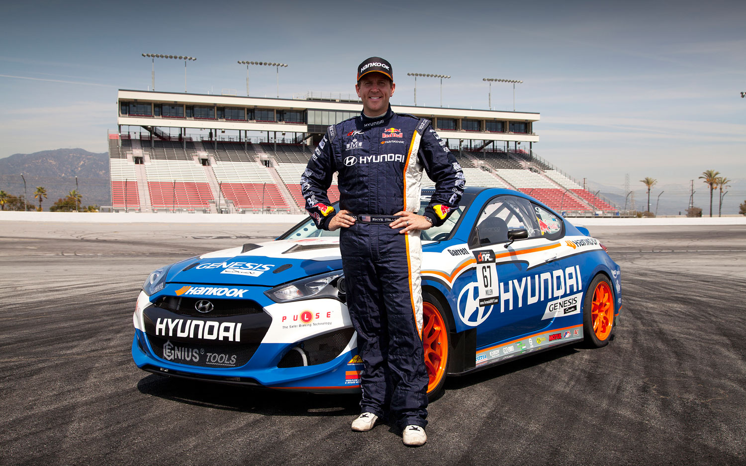Rhys Millen Driving Refreshed 2013 Hyundai Genesis Coupe For 2012