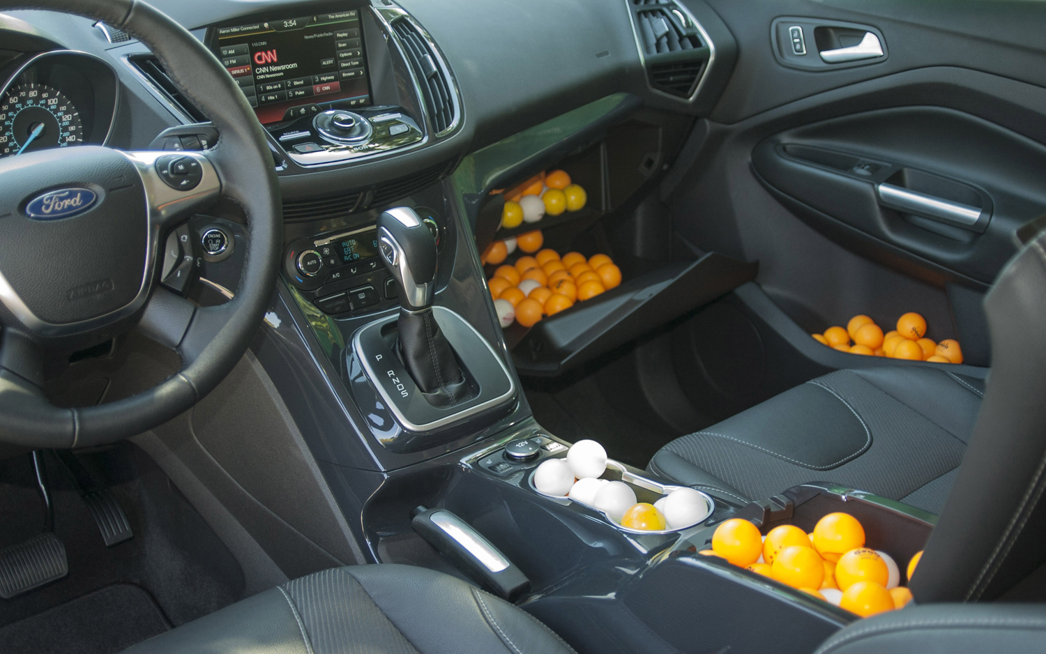 2013 ford escape interior spaces measured with pingpong balls