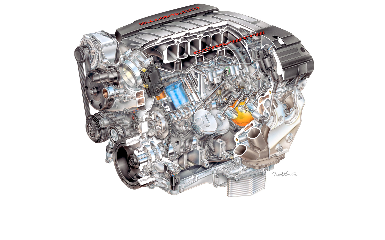 Next Gen Lt1 62 Liter V 8 For 2014 Corvette Revealed With 450 Hp 2000 Chevrolet 3 4 Engine Diagram New Tech
