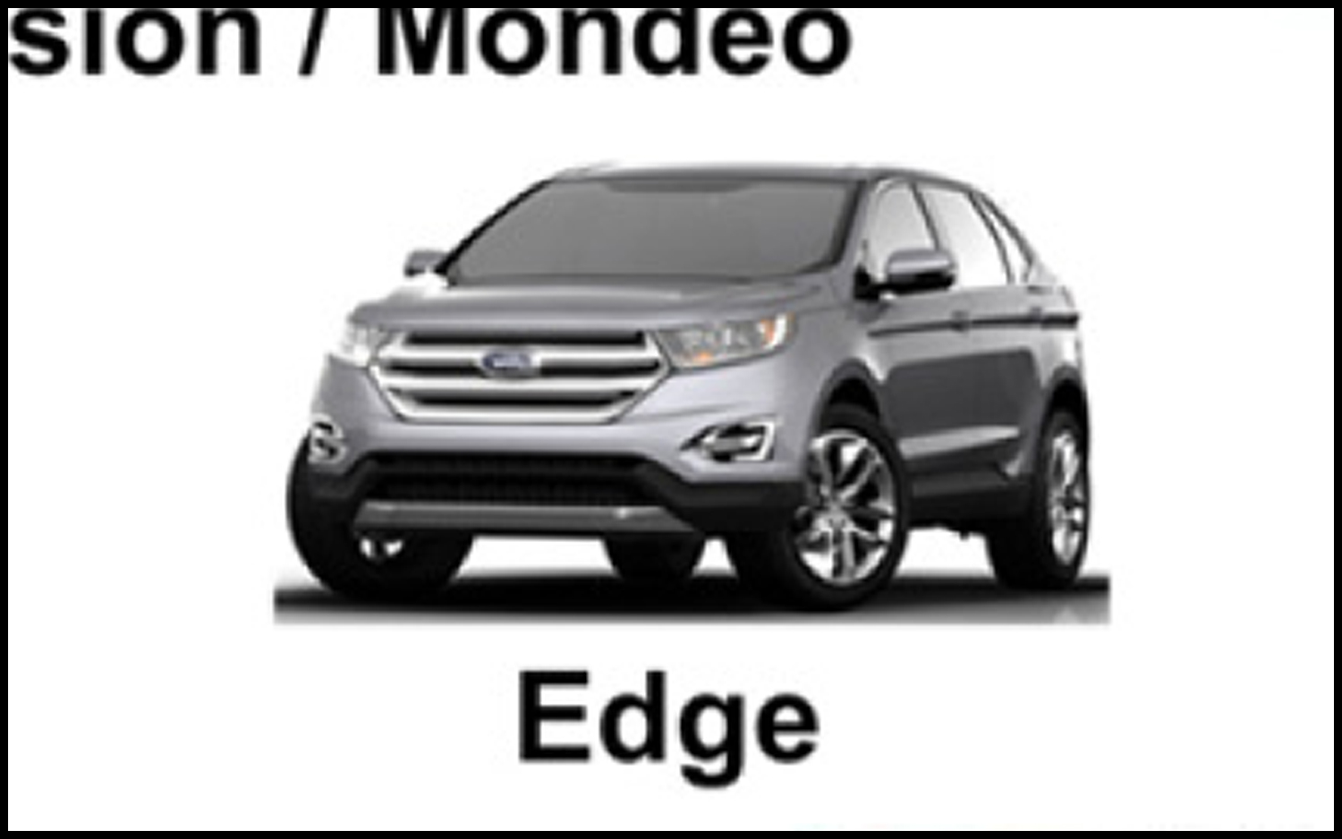 Redesigned Ford Edge Crossover Shown By Accident In Corporate Presentation