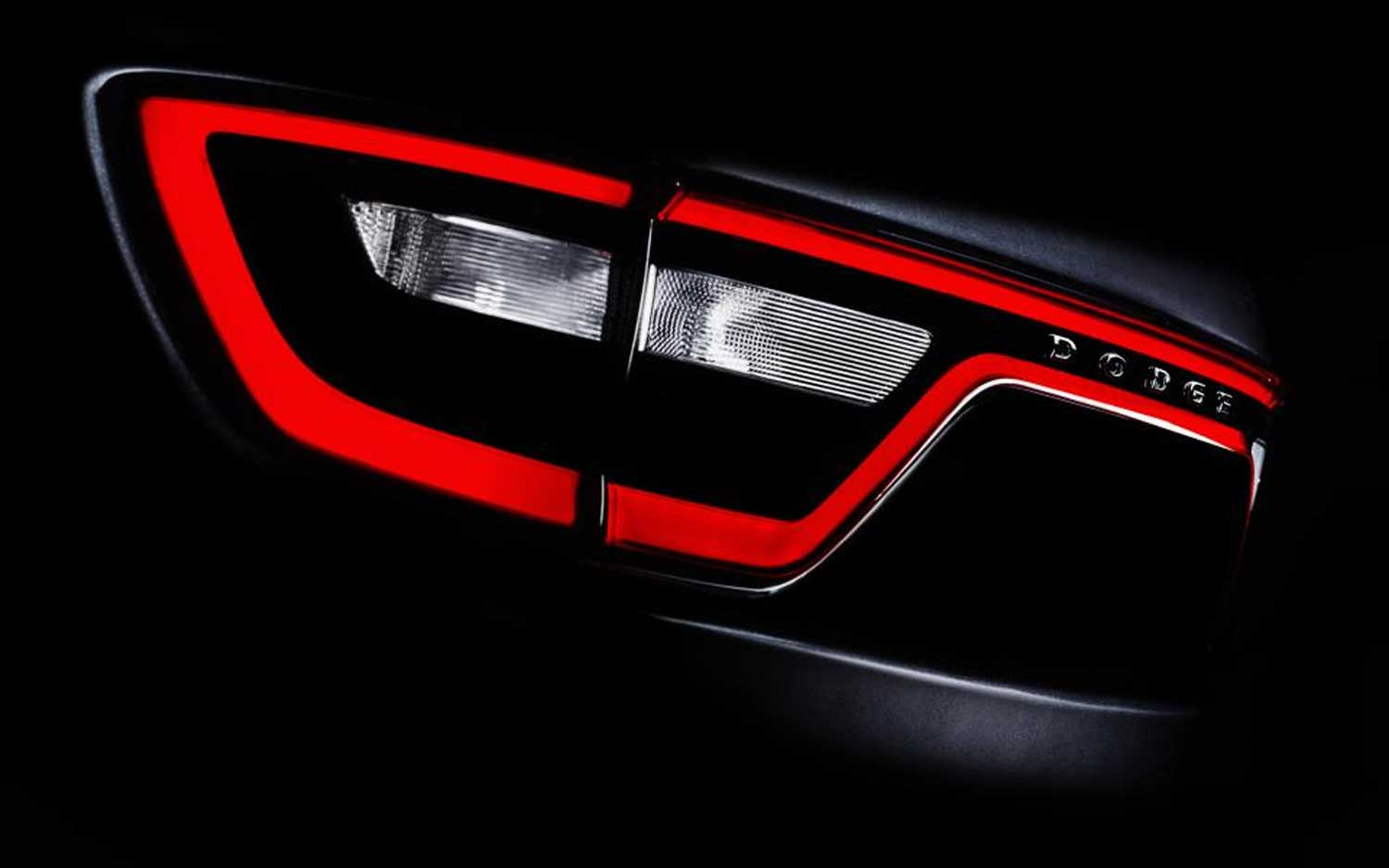 2014 Dodge Durango Racetrack Taillights Teased Before New York Show ...