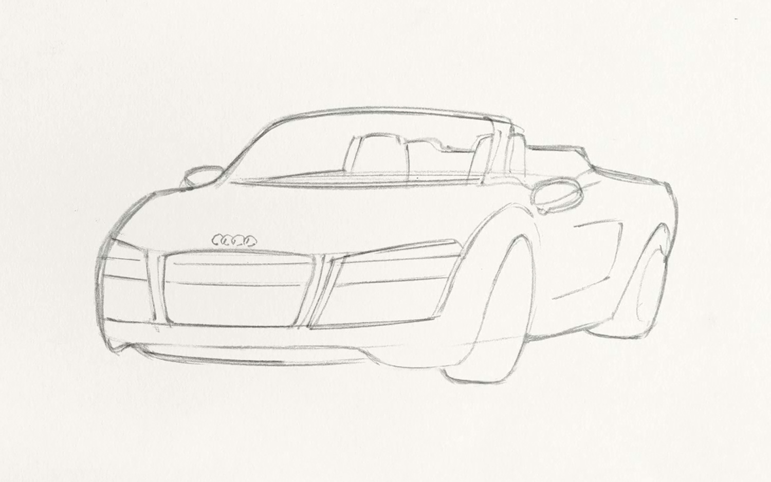 How-To Video: Sketch Iron Man's 2014 Audi R8 Spyder