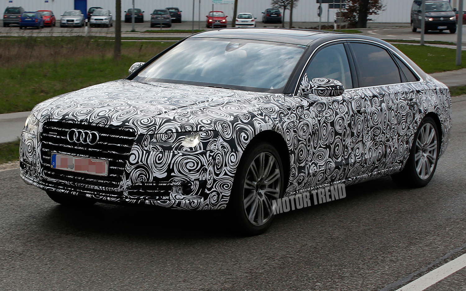 Spied: Refreshed Audi A8 Prepping for 2014 S-Class