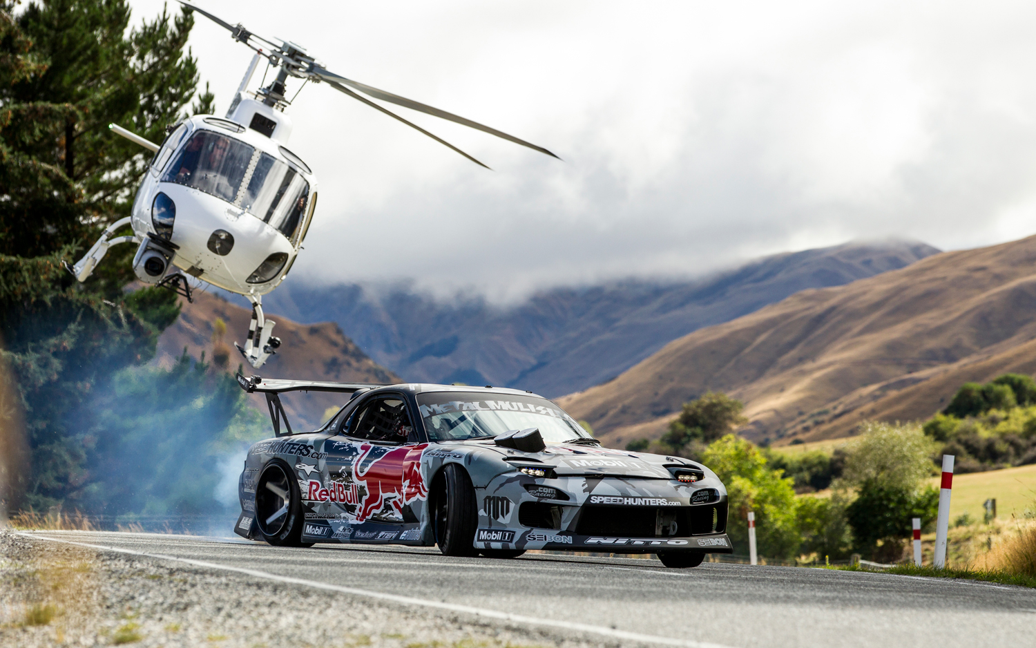 Watch This 750-HP Mazda RX-7 Drift up a New Zealand Mountain