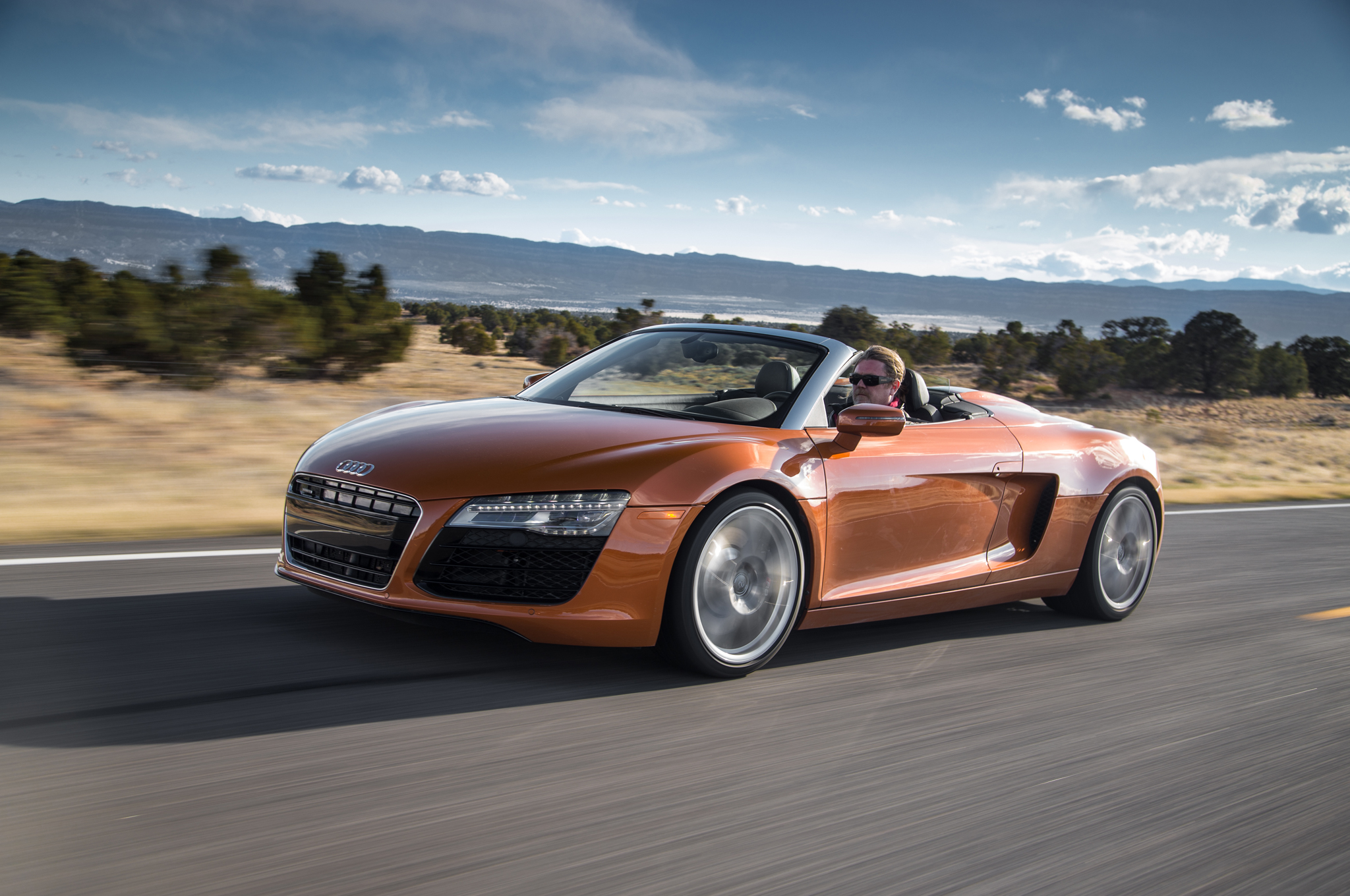 Audi R8 Spyder Matte Black And Orange Supercars Gallery