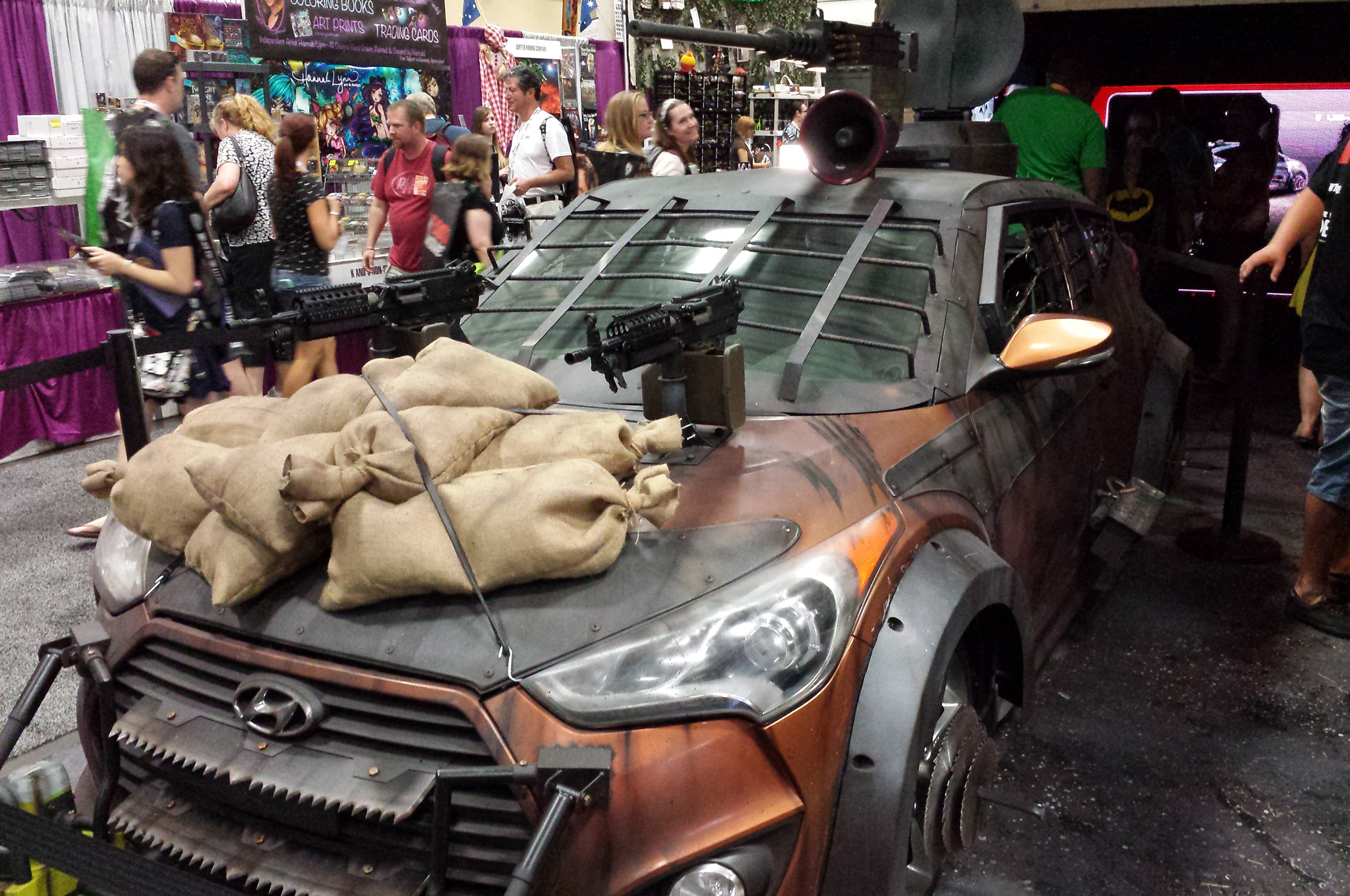 Walking Dead Hyundai Veloster Zombie Survival Machine Debuts Motor