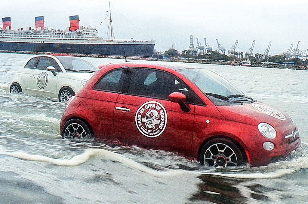 Fiat 500 Watercraft Hit the Waves for Surf Competition