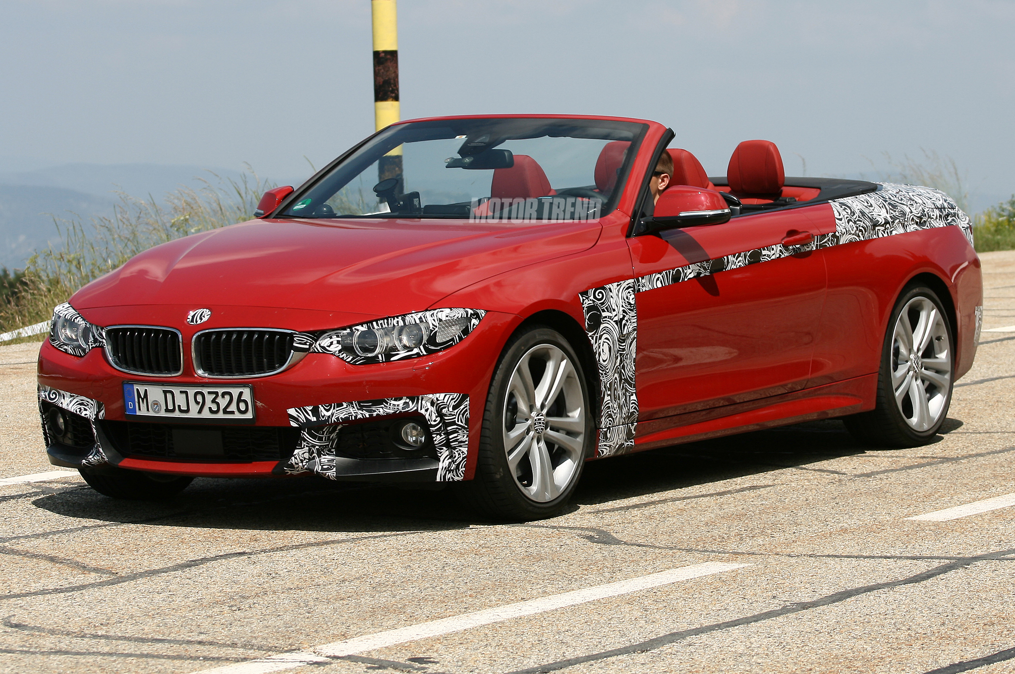 Spied: 2014 BMW 4 Series Convertible Is Red Hot