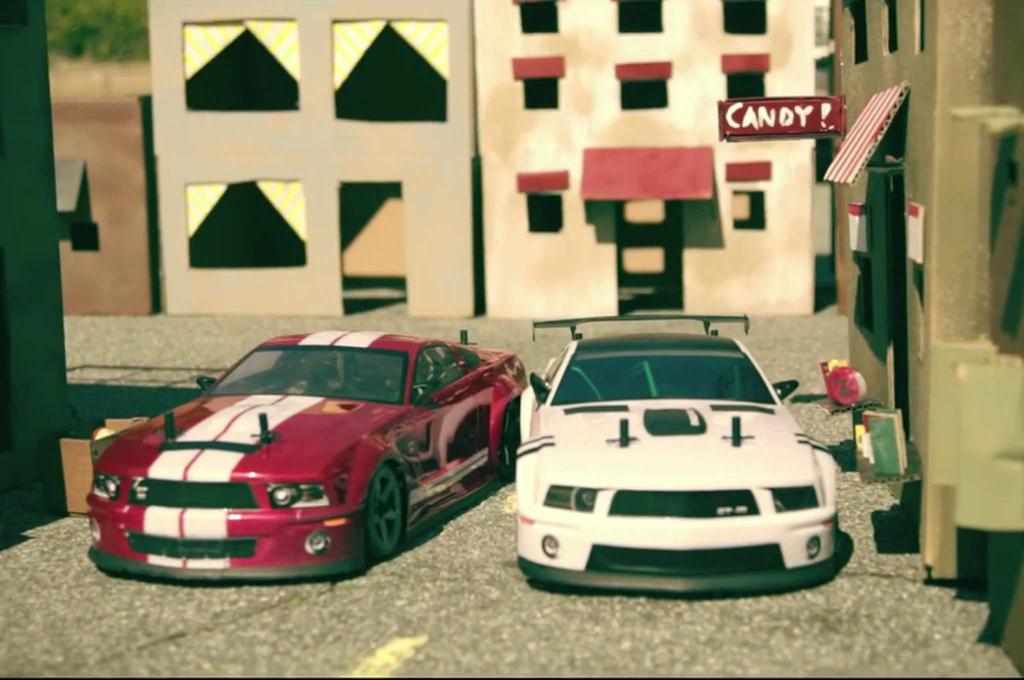 Go behind the scenes of an rc mustang chase scene in this video