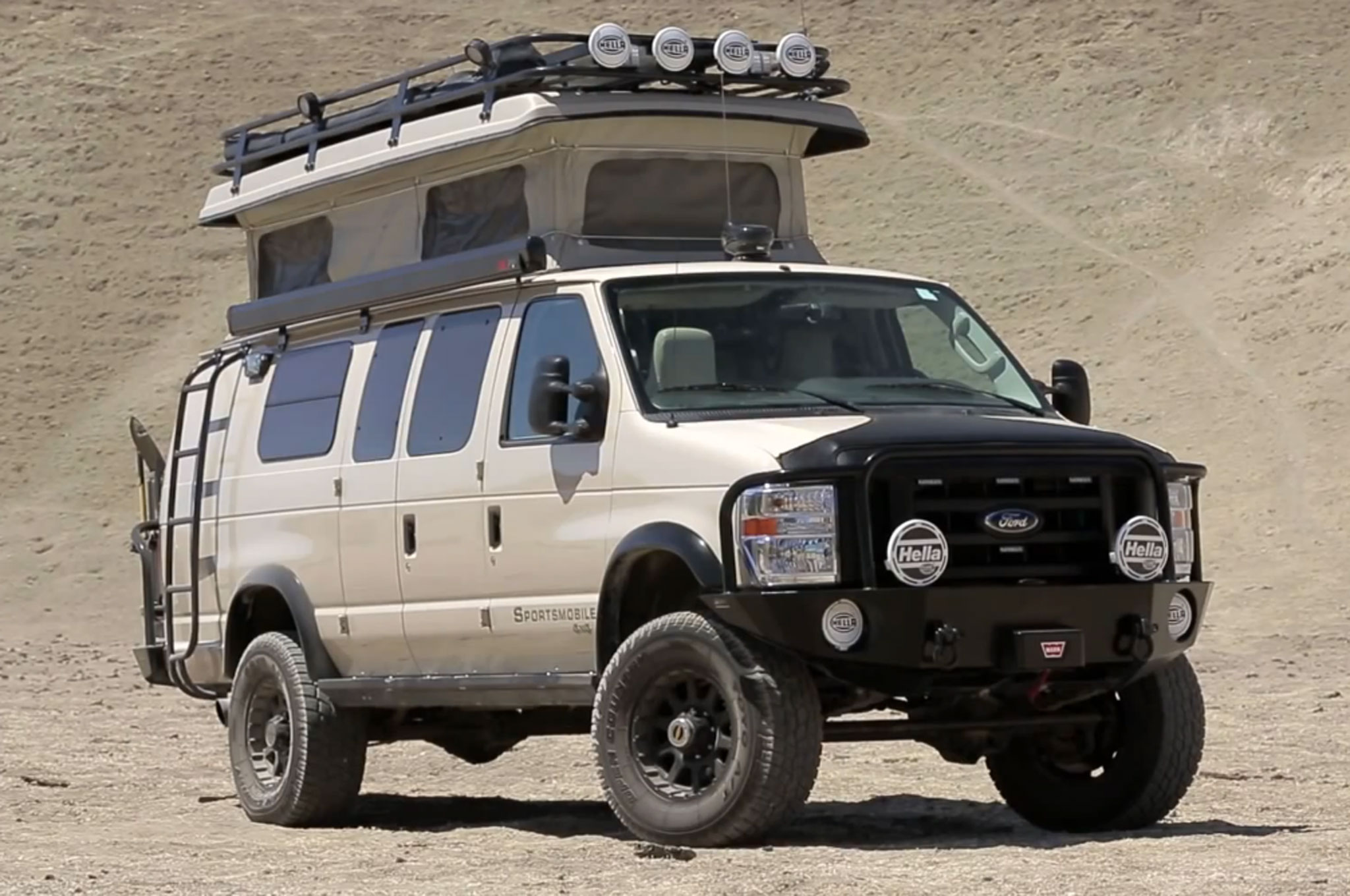 Ford 4x4 Sportsmobile Pace Arrow RV In Off Road Camper War W Video