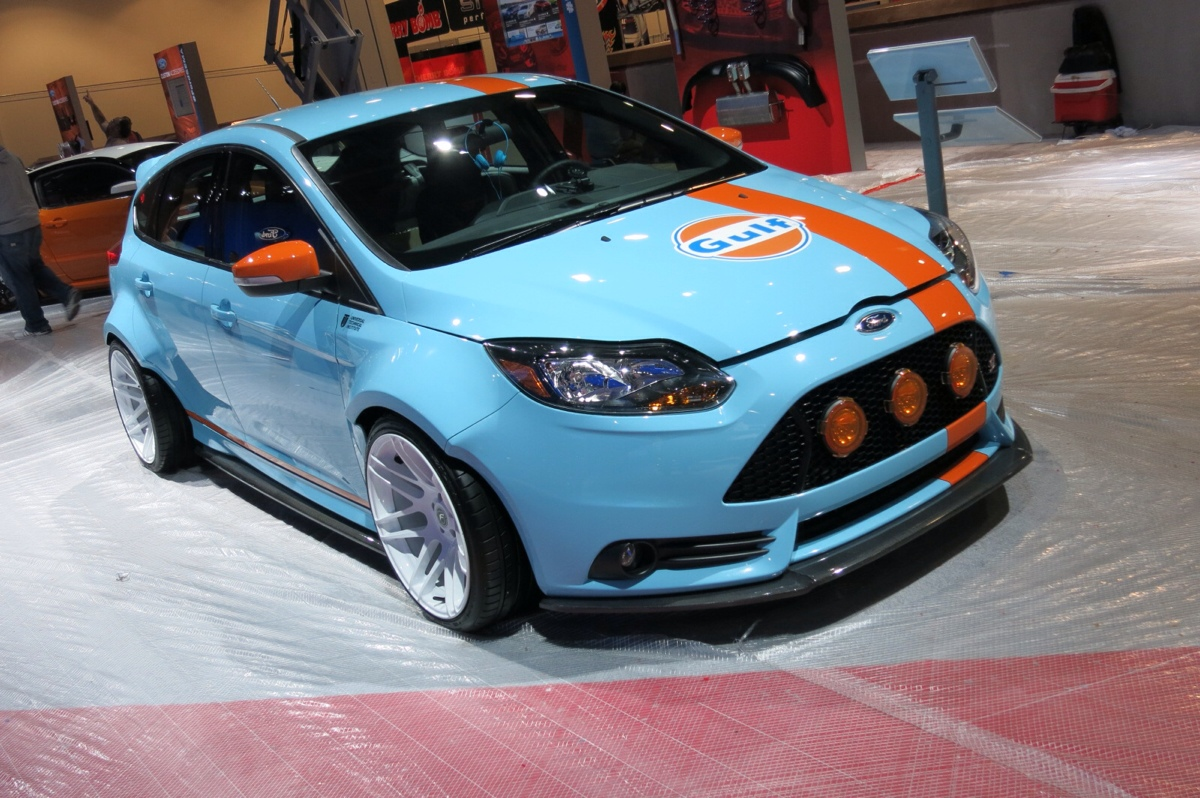 Gulf Livery Ford Focus St Is True Blue At Sema 2013 Motor Trend