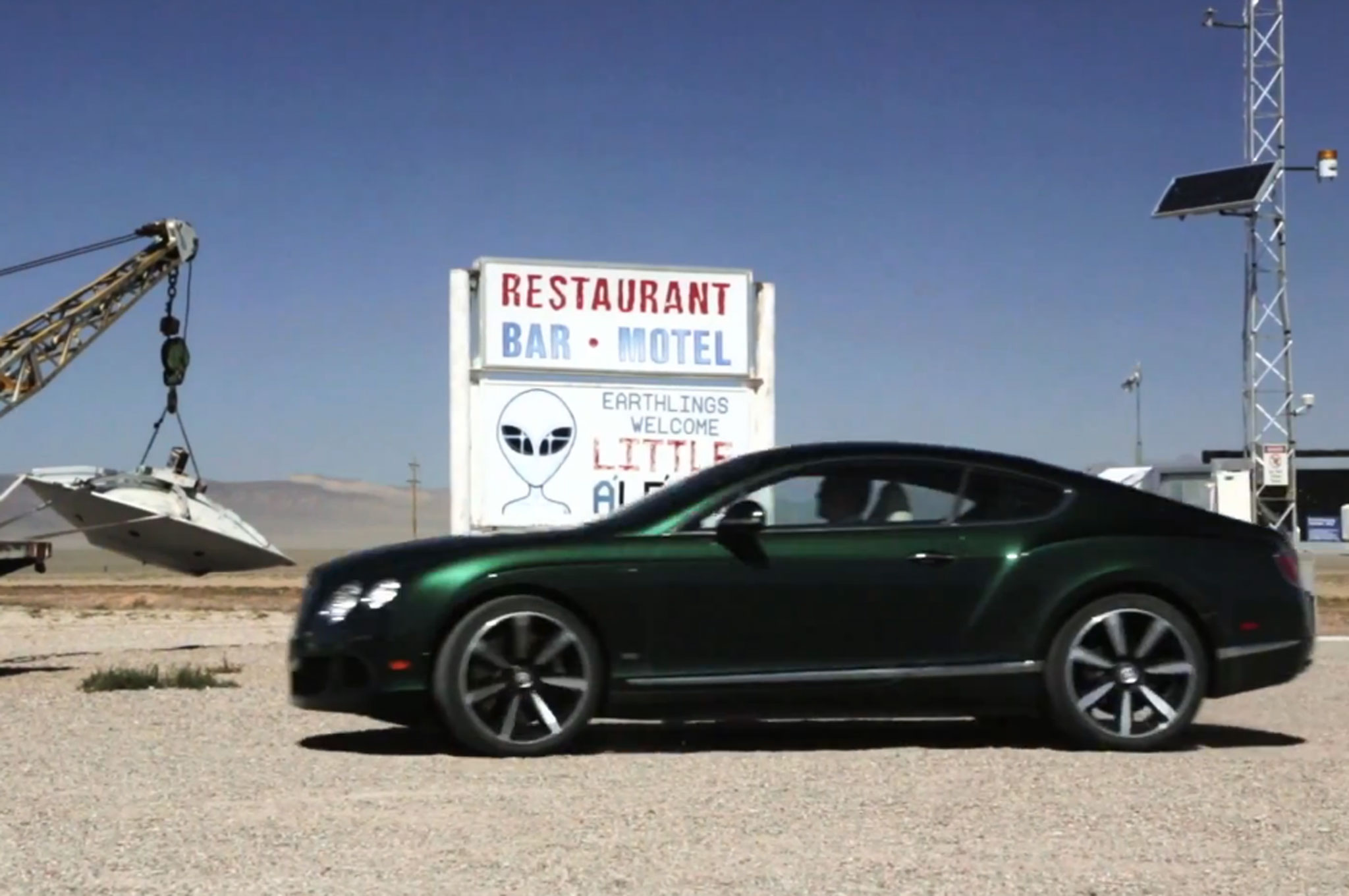 2014 Bentley Continental GT's Epic Drive Through Area 51, Las Vegas