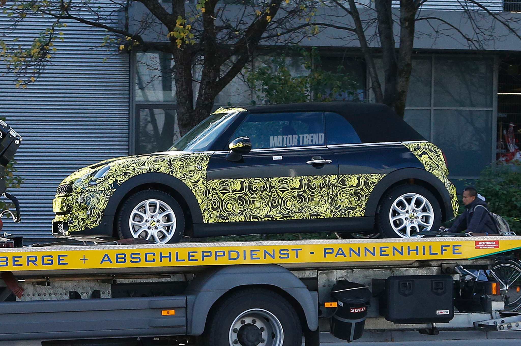 2015 Mini Cooper S Convertible Spied on a Flatbed