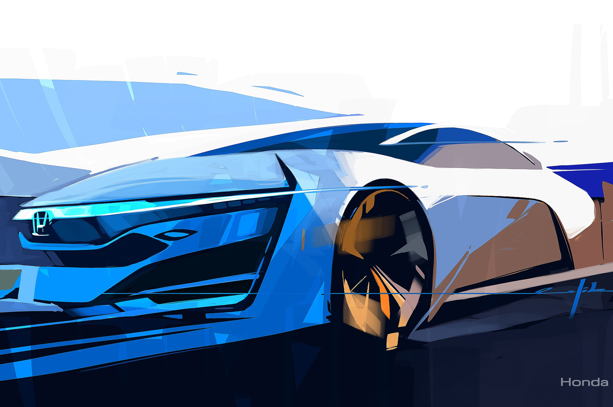 Boldly Styled Honda FCEV Concept Sketch Revealed Before L.A. Show