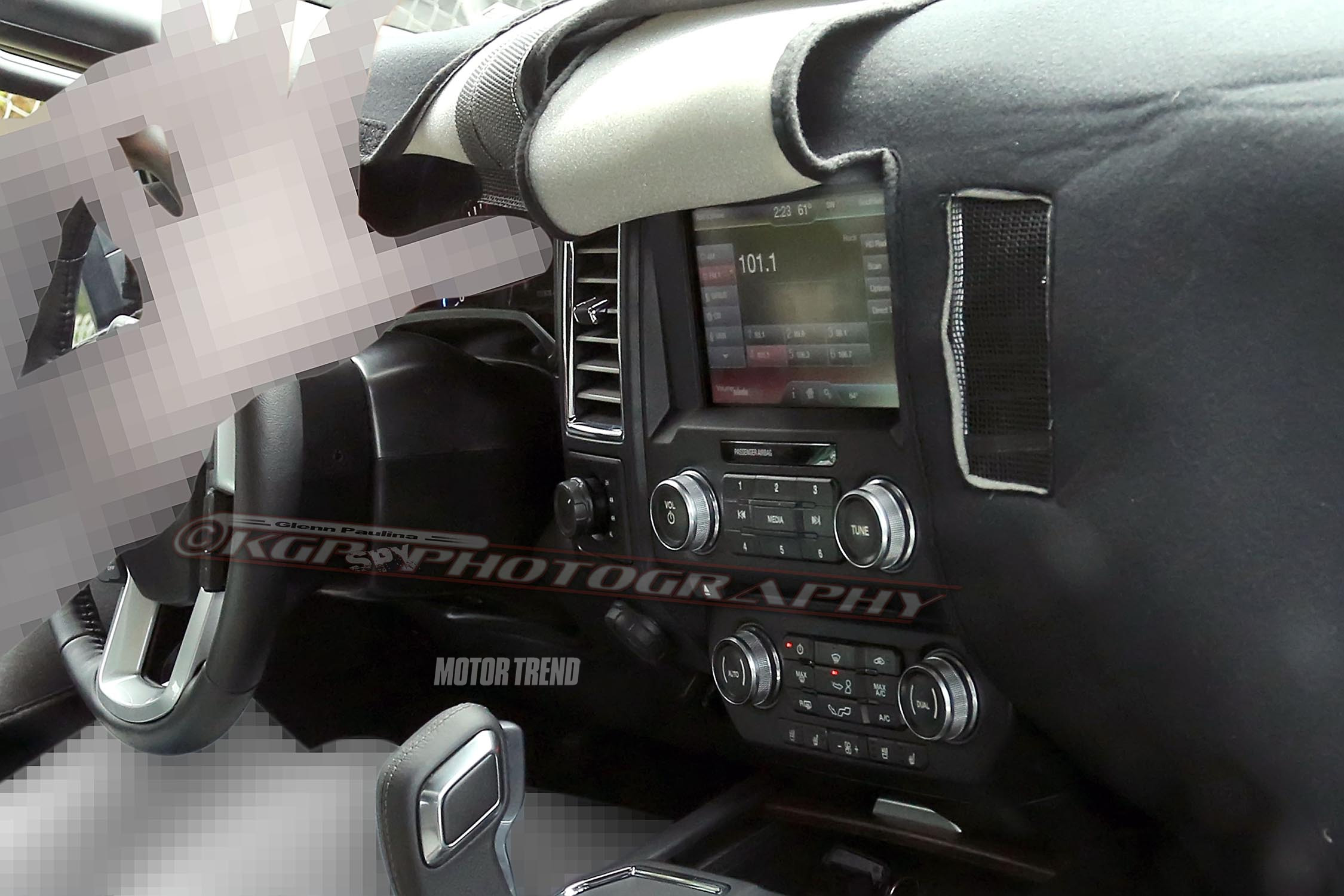 spied 2015 ford f 150 prototype reveals its interior motor trend