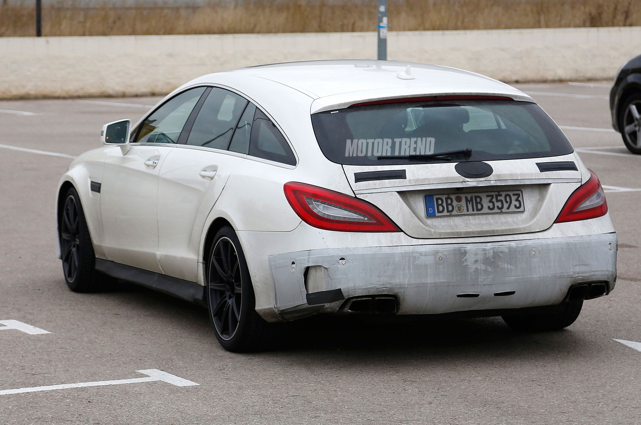 Spied: Mercedes-Benz CLS63 AMG Shooting Brake Hides Its Face