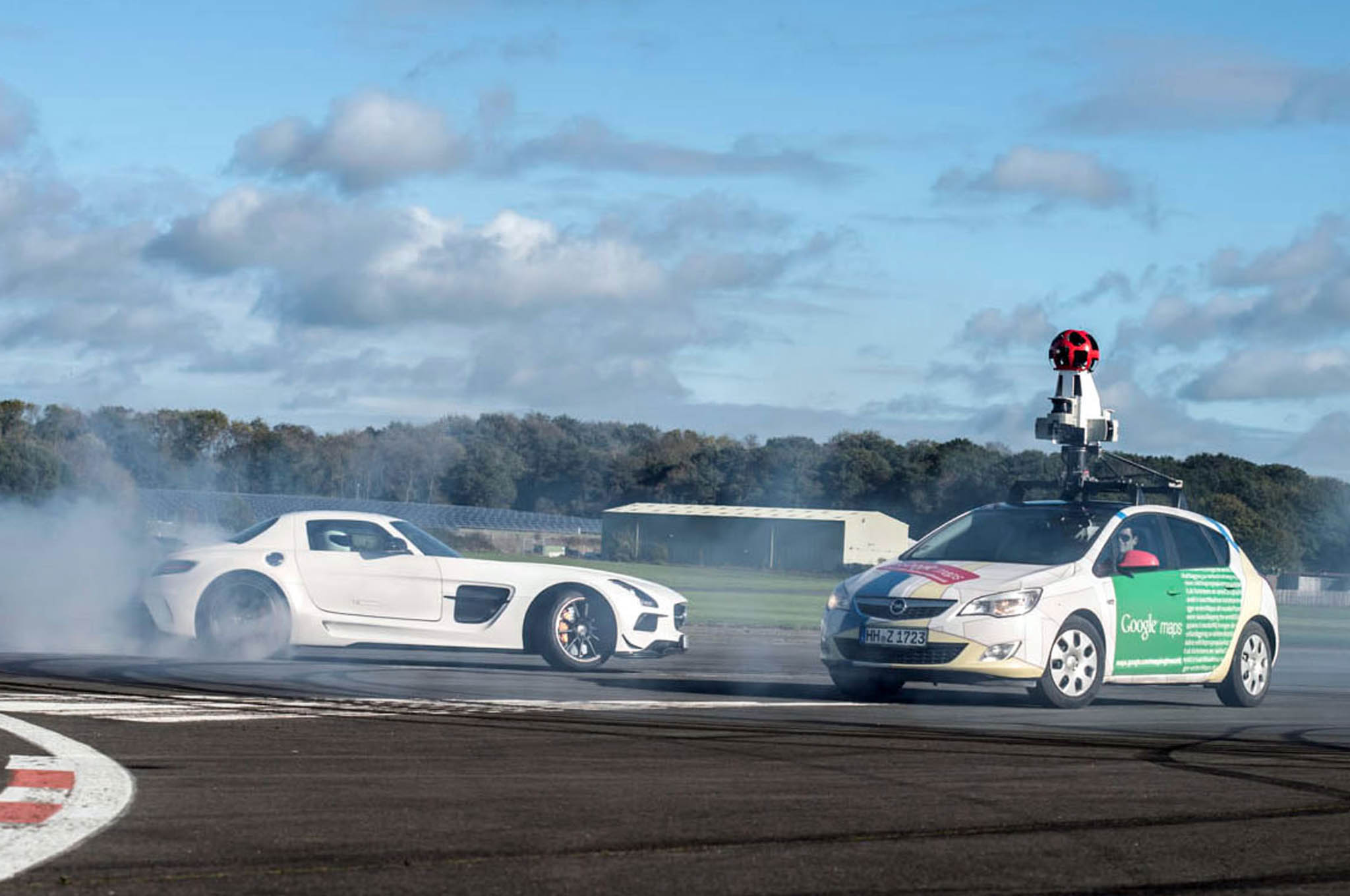 Google Maps Takes on the Stig at the Top Gear Test Track