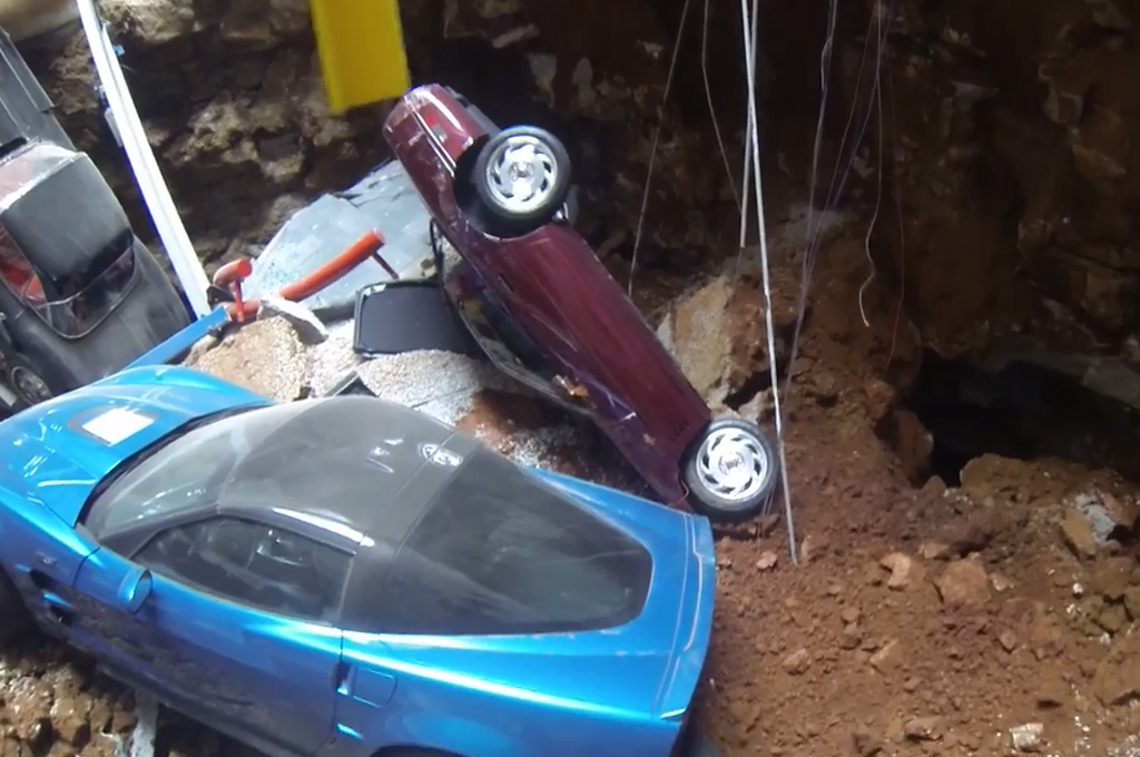 Watch Some Rare Chevrolet Corvettes Get Swallowed by a Sinkhole