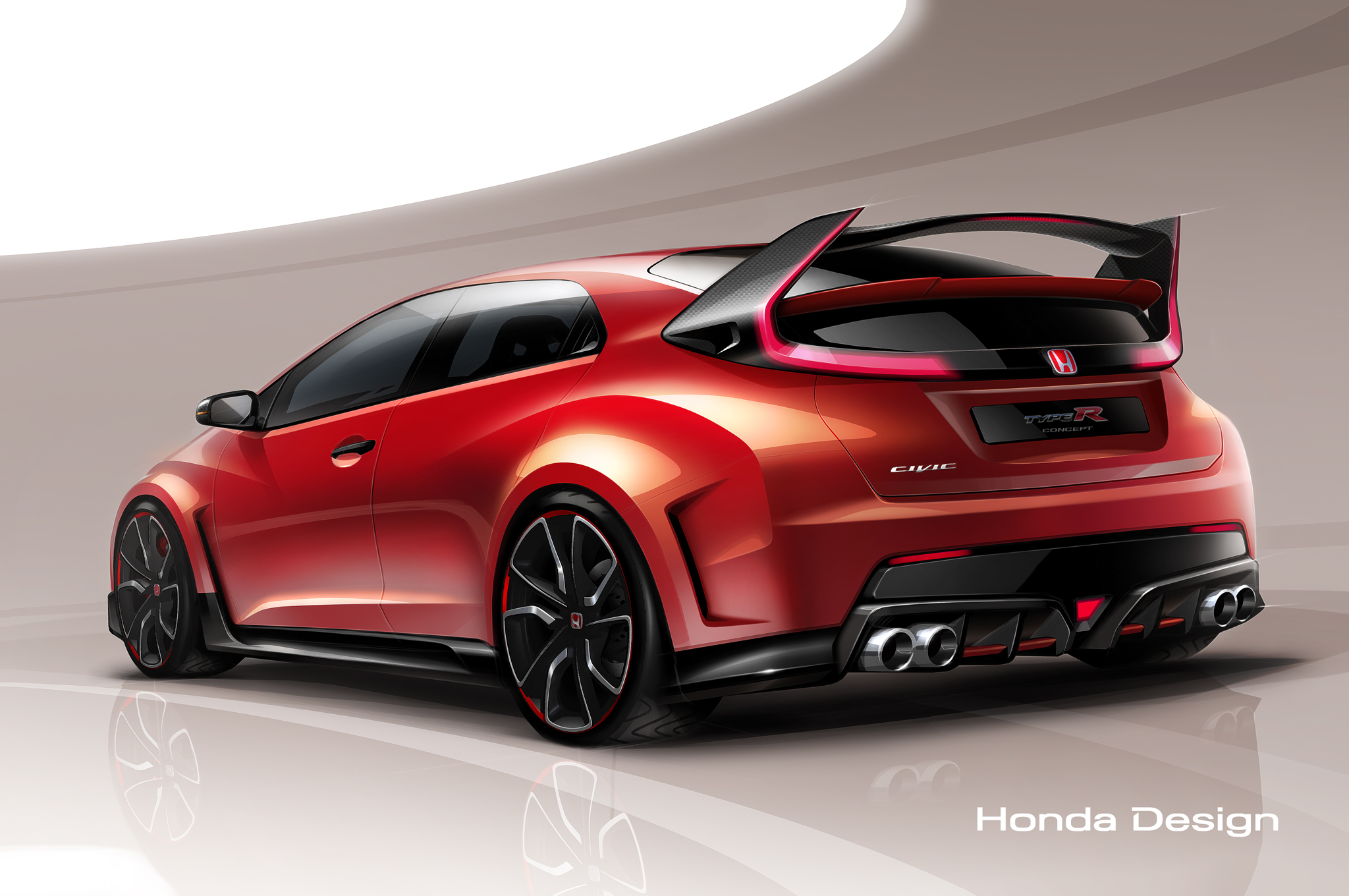 Honda Civic Type R Concept Teased Before Geneva Debut