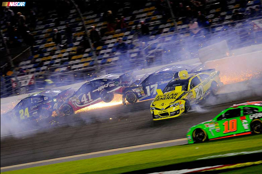 NASCAR Daytona Unlimited Race Marred by Massive Crash, Pace Car Fire