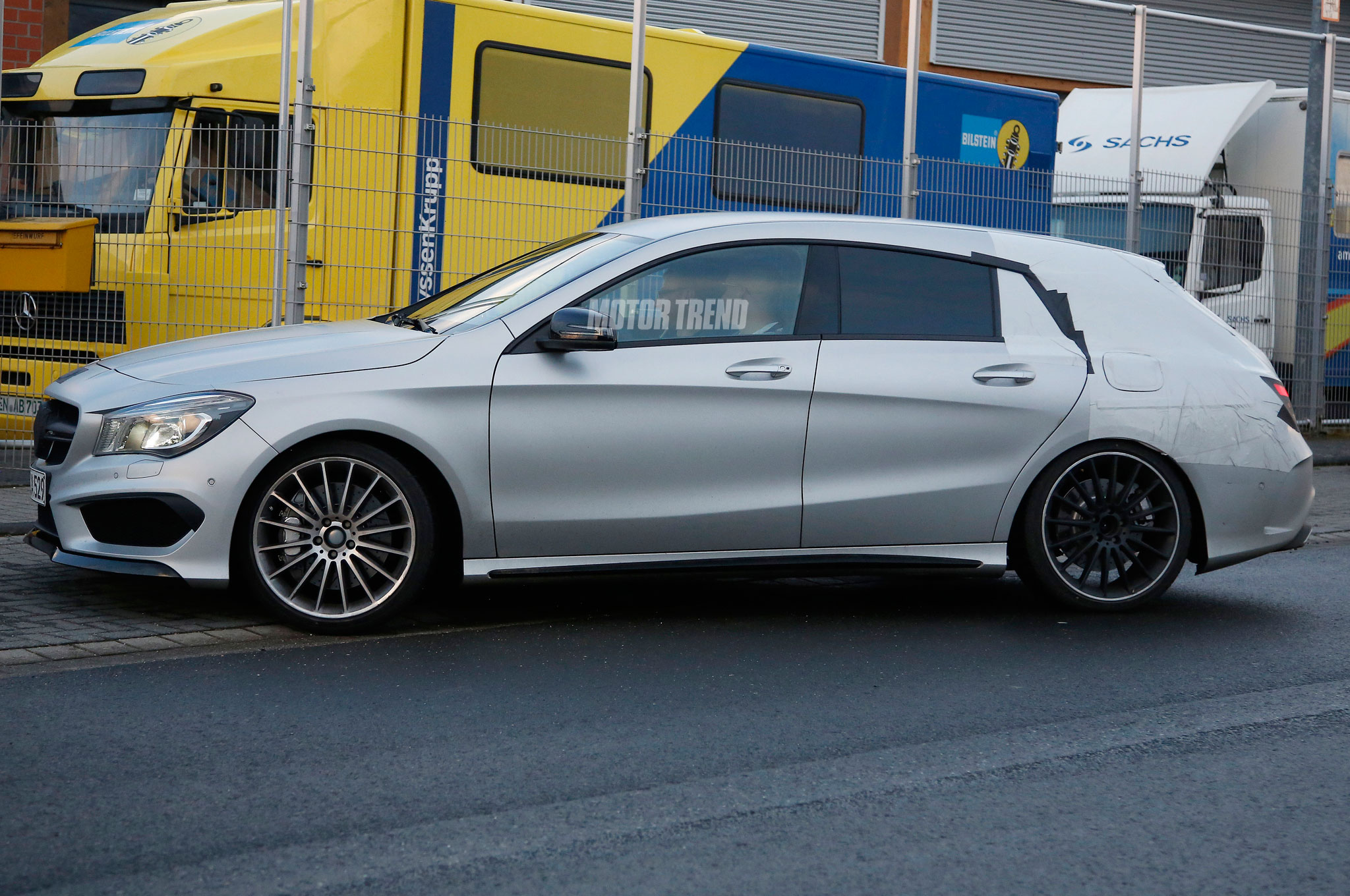 Spied Mercedes Cla45 Amg Shooting Brake Shows Its Rakish Hatch