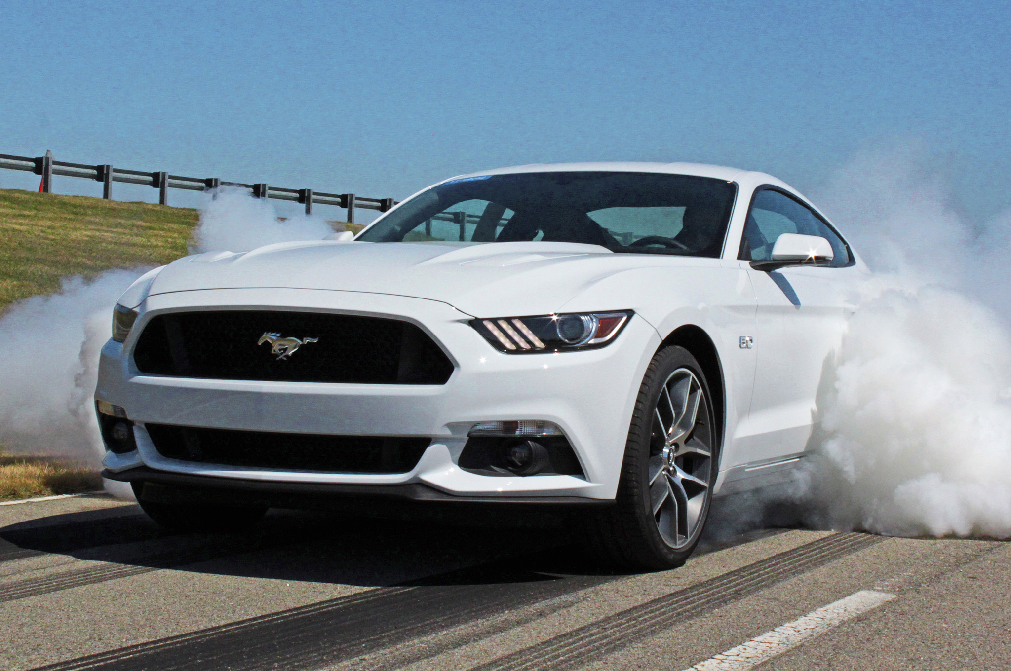 2015 ford mustang gts line lock feature makes burnouts easy