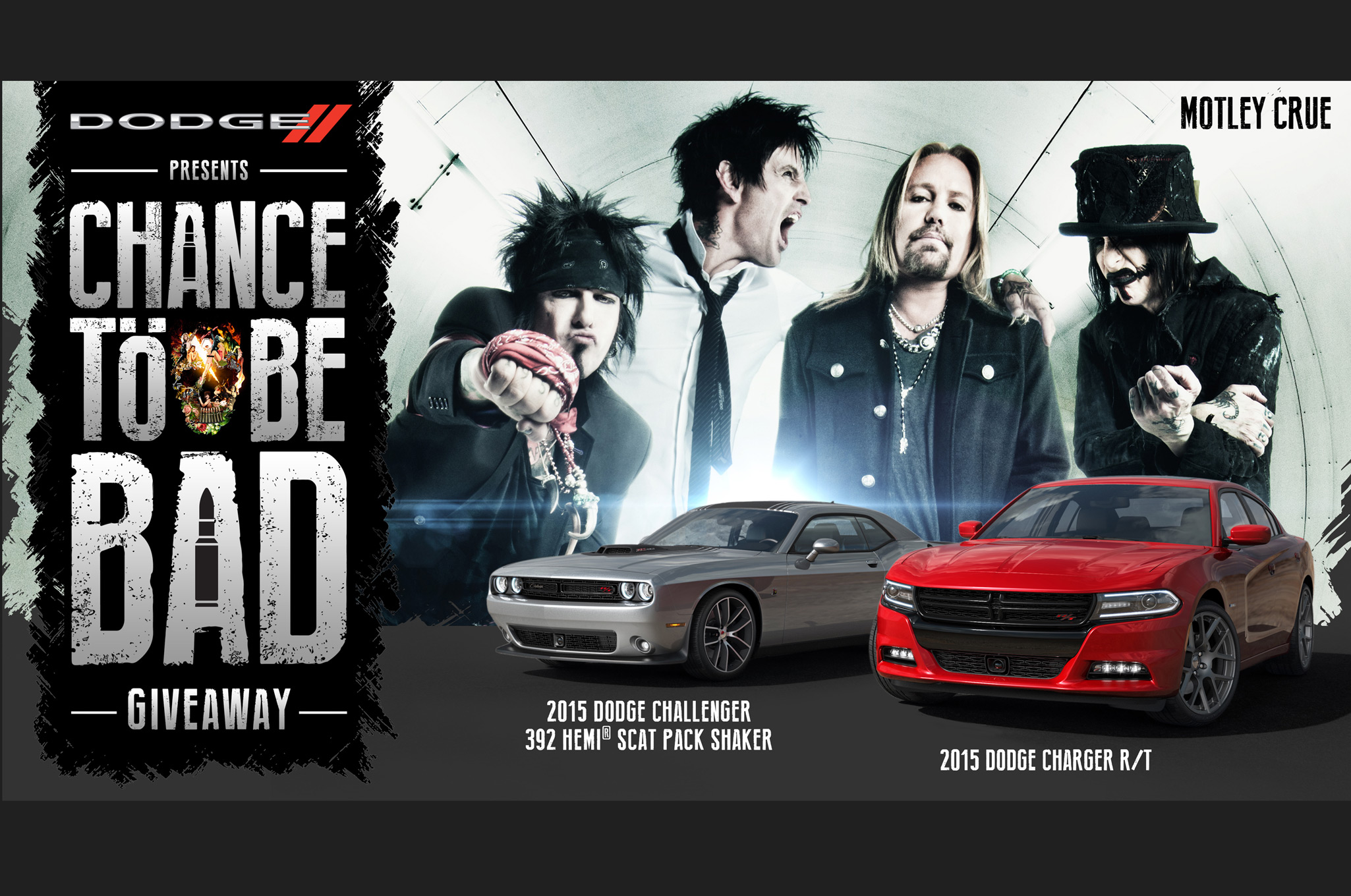 Dodge Charger, Challenger and Motley Crue Pair up for Contest