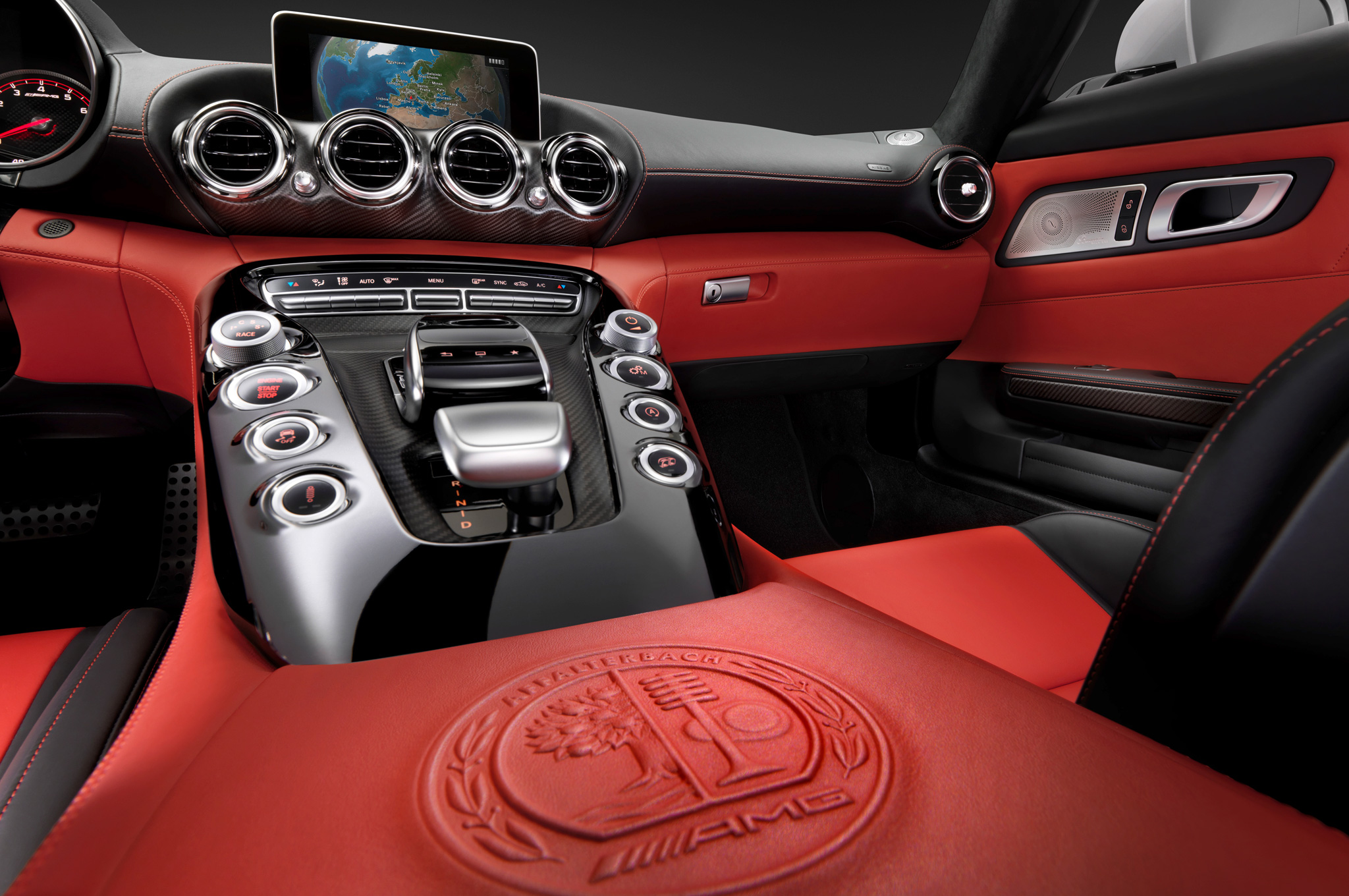 Mercedes AMG GT Shows Off its Dapper and Sporty Interior