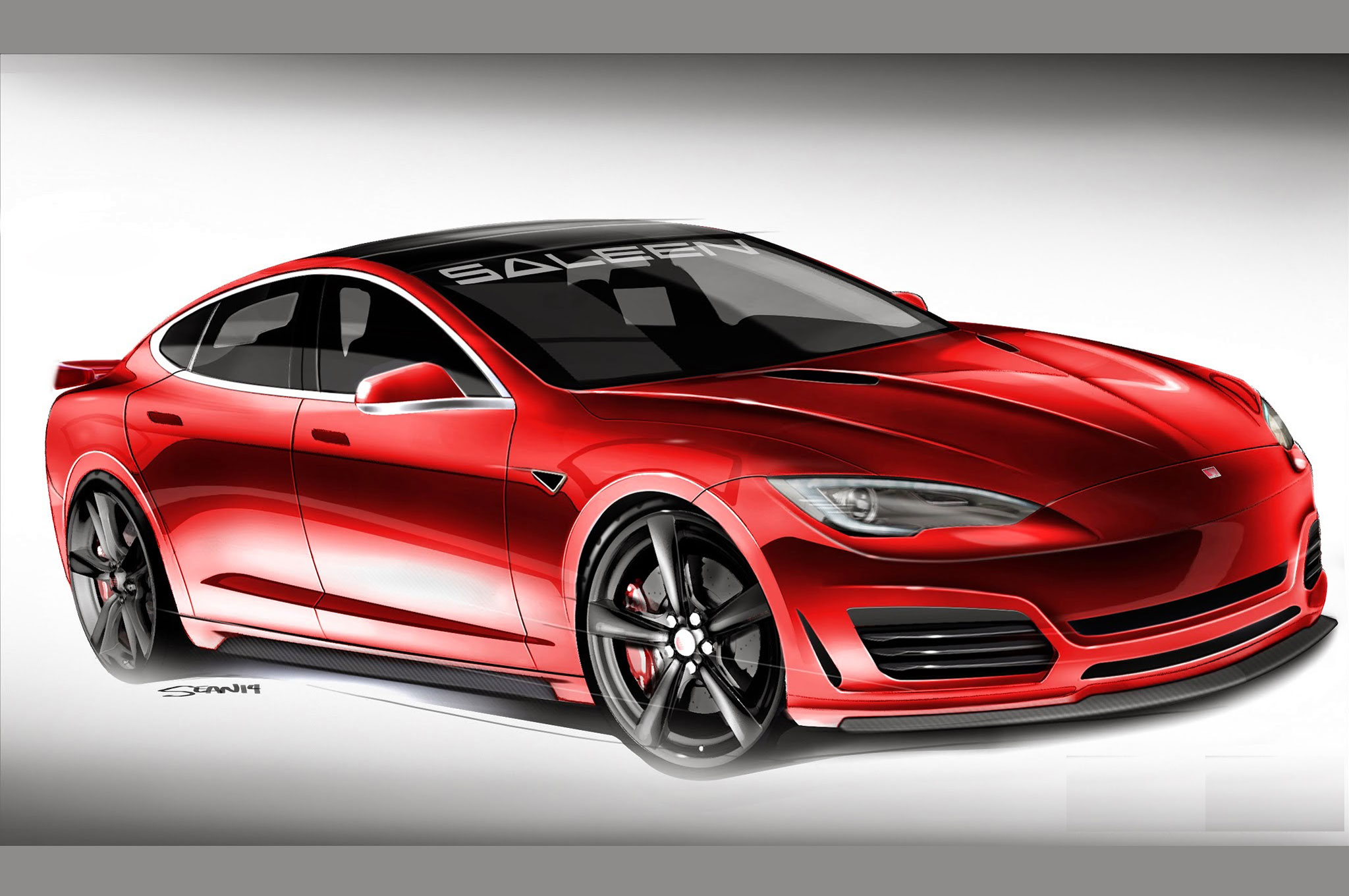 Saleen Tesla Model S to Arrive This Summer, Mods Still a Mystery