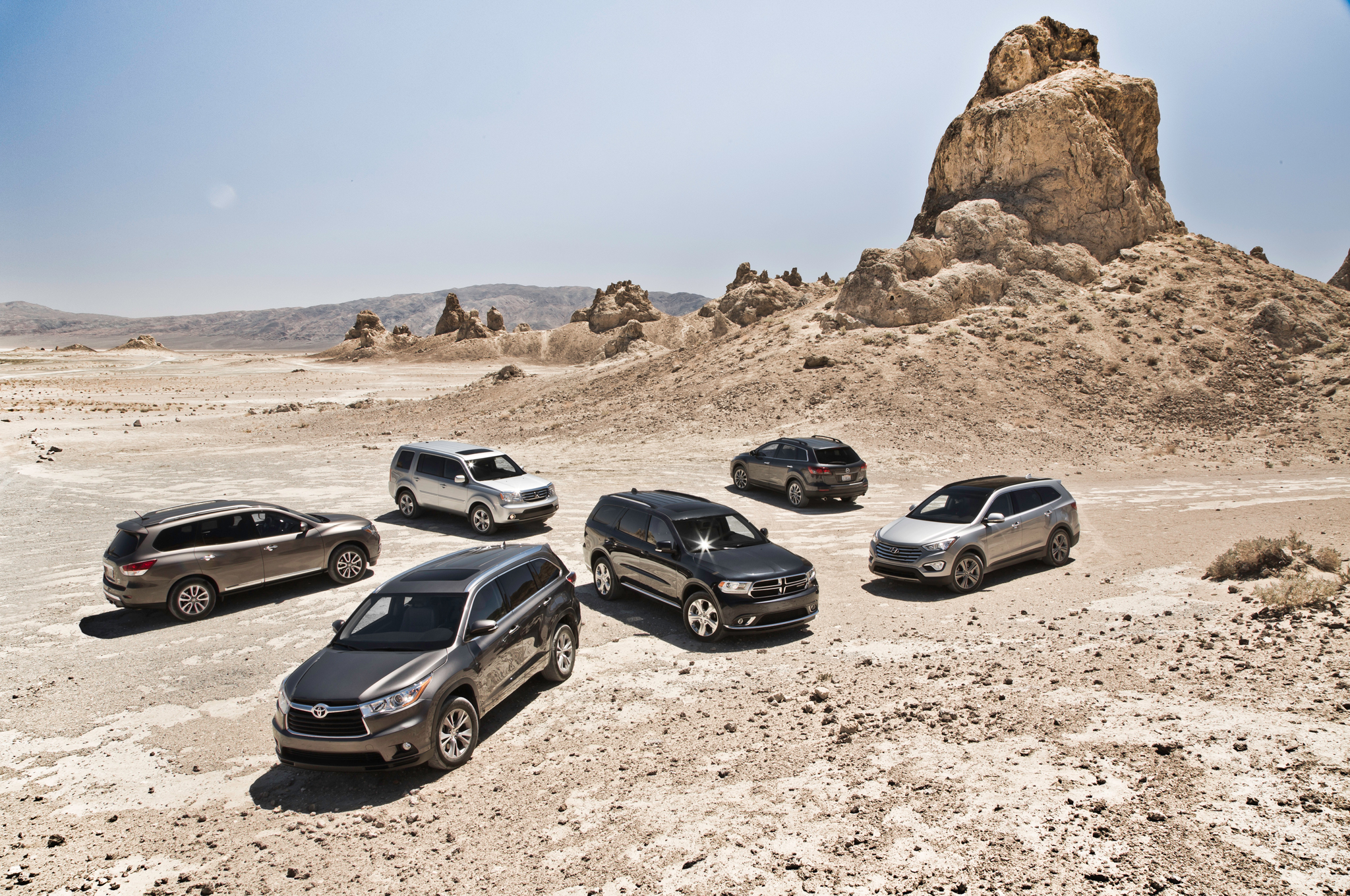 The big test 2014 three row crossovers motor trend fandeluxe Gallery