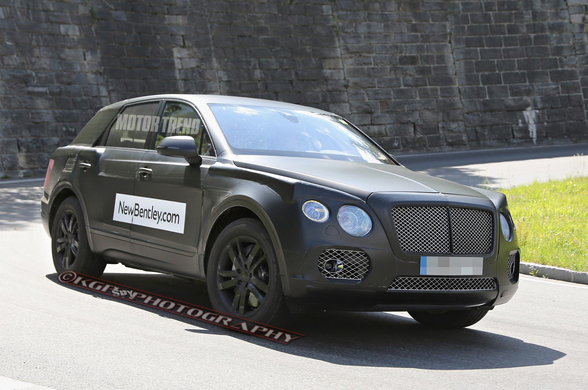 Spied: Bentley SUV Prototype Sports Continental GT Face