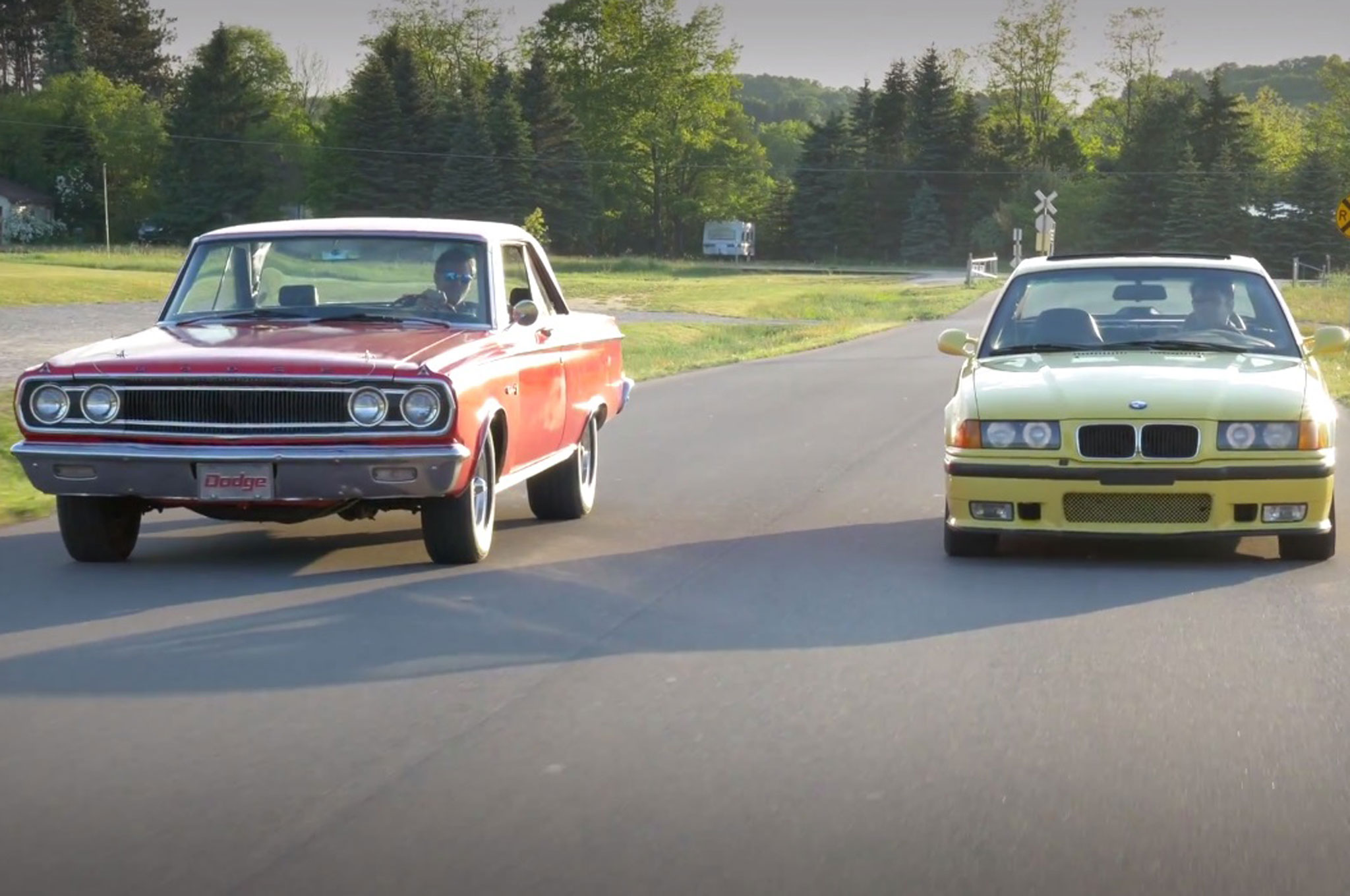 Generation Gap Pairs a 1965 Dodge Coronet 500 With a 1995 BMW M3