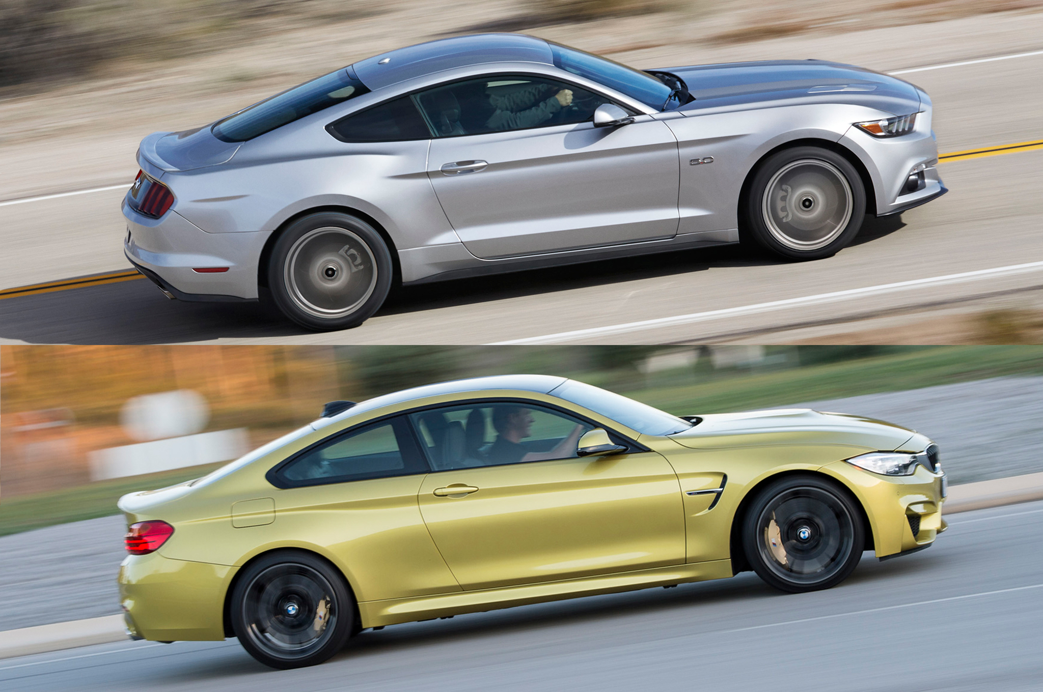 Totd you pick 2015 ford mustang gt or 2015 bmw m4