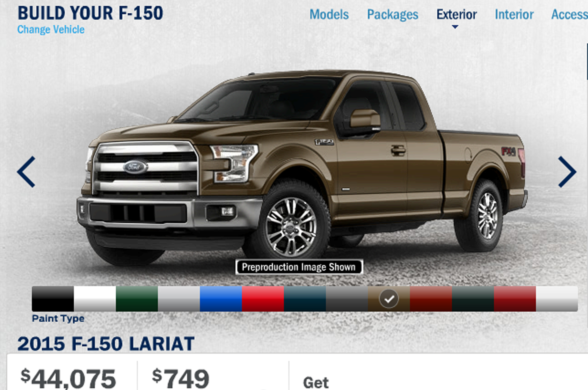 Ford F  Build Your Own Feature Goes Online