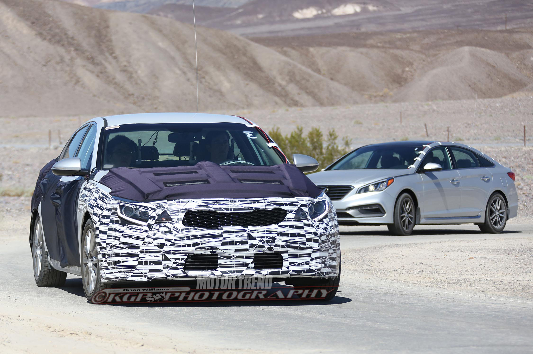 Spied: 2016 Kia Optima Hits The Desert