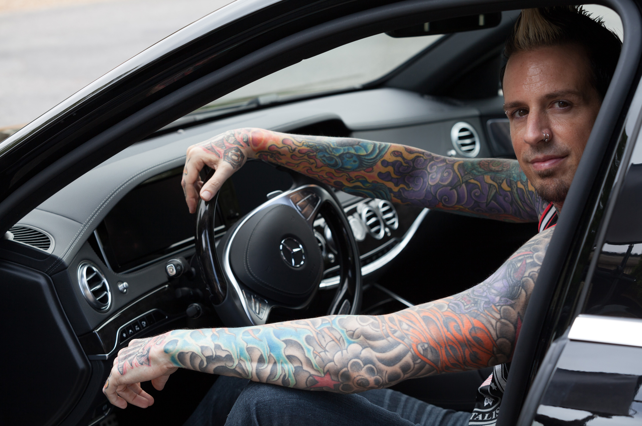 Celebrity Drive Five Finger Death Punch Drummer Jeremy Spencer Motor Trend