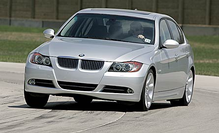 2006 BMW 3 Series front end in motion