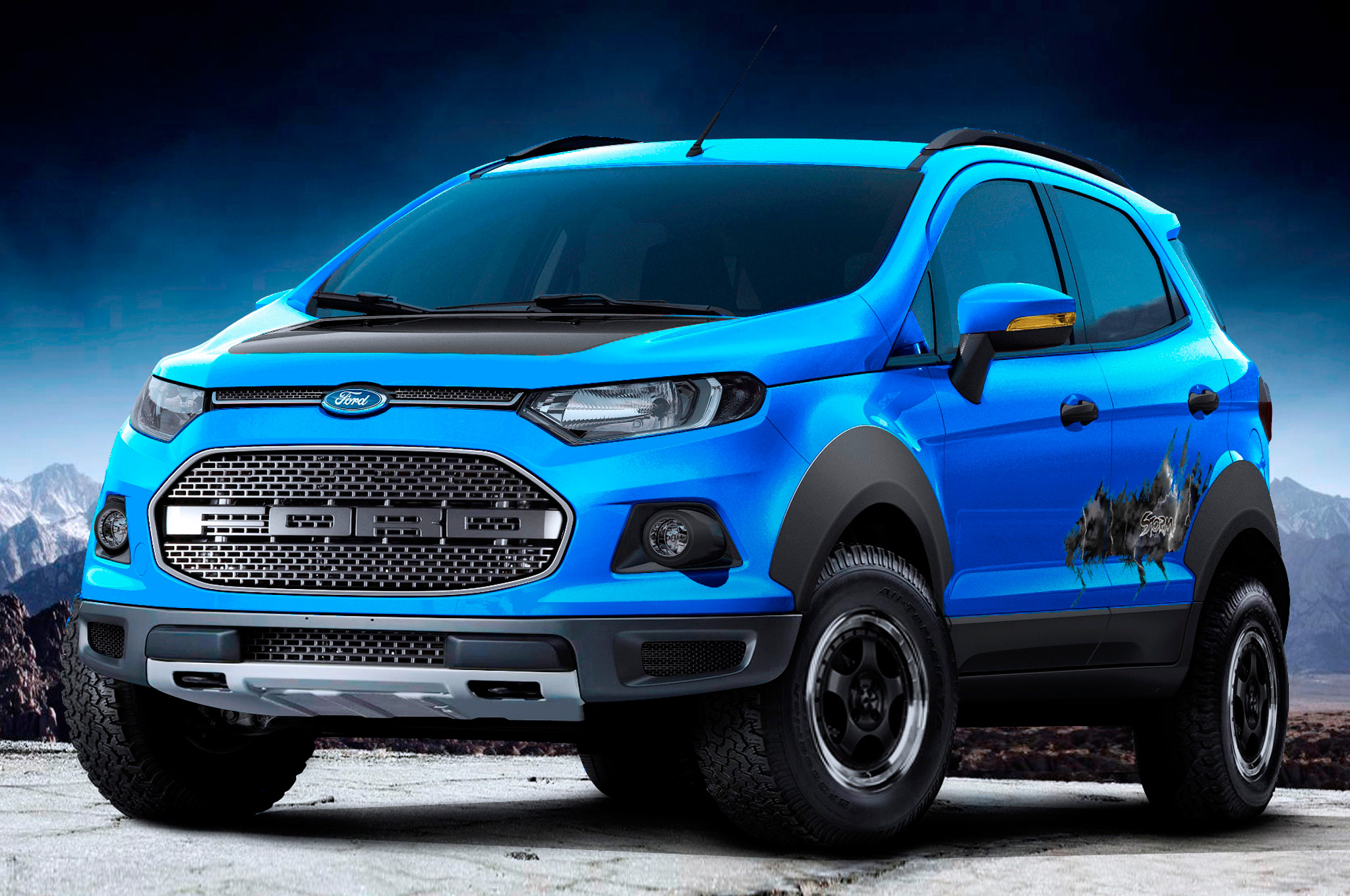 Raptor Like Ford Ecosport Troller T4 Off Road Debut In Sao Paulo