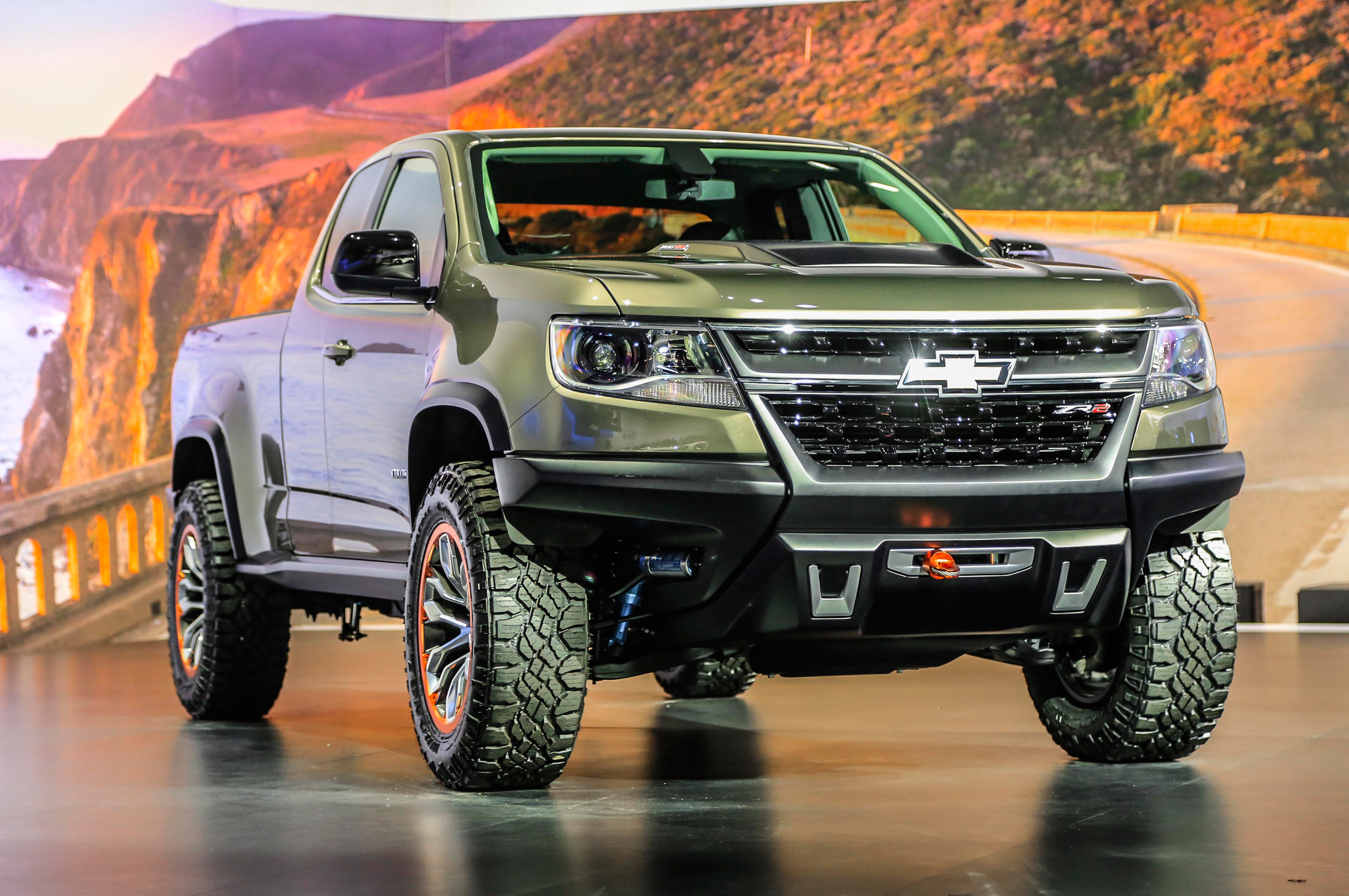 Nice Trail Ready Chevrolet Colorado ZR2 Concept Debuts In L.A.