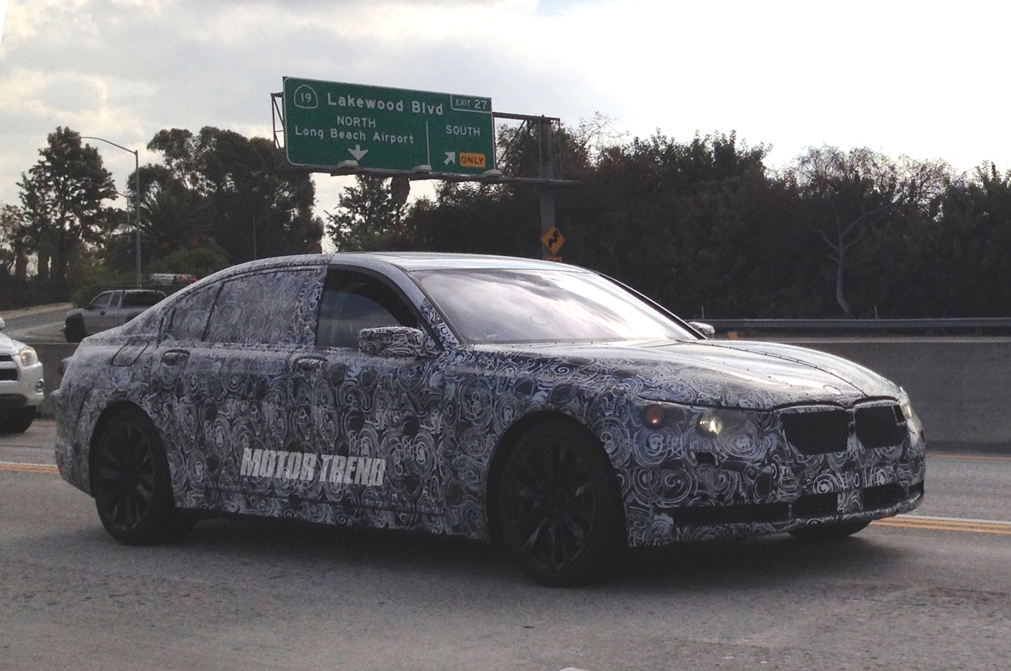 BMW 7 Series Prototype Spotted in Motor Trend's Back Yard
