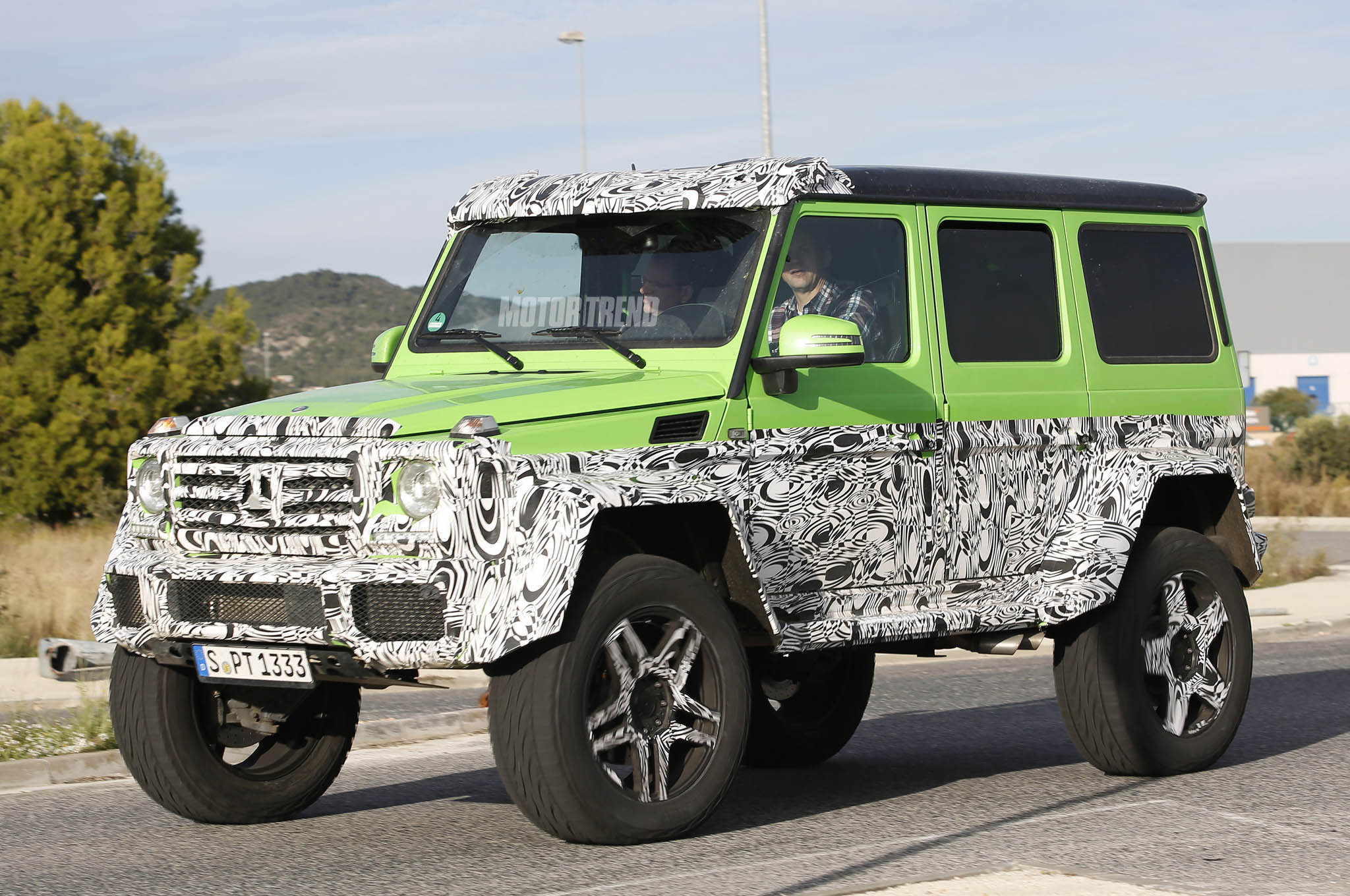 Spied Mercedes G Class Prototype Sports G63 AMG 6x6 Parts Motor Trend