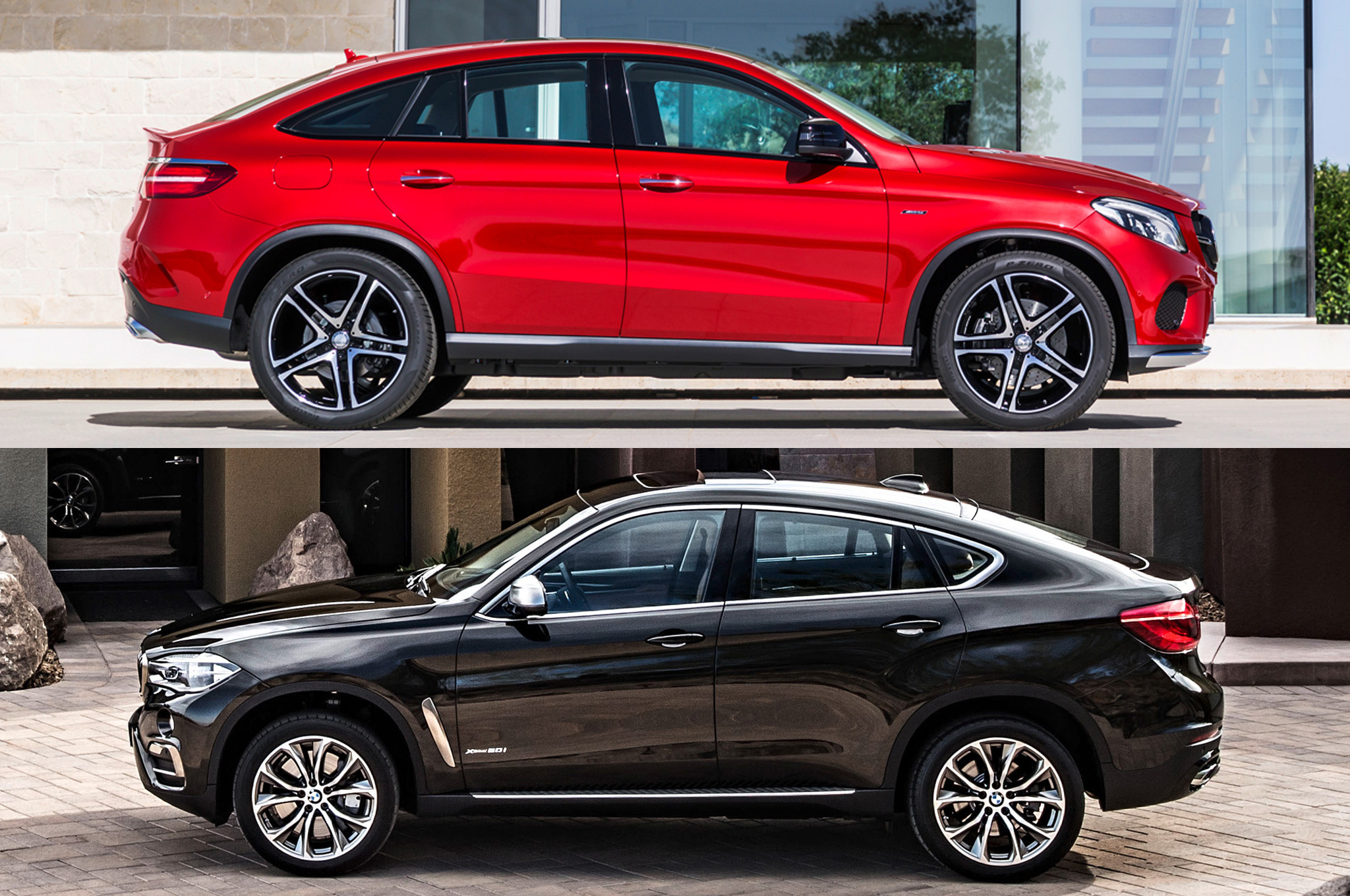 Styling Size Up 2016 Mercedes Benz Gle Coupe Vs 2015 Bmw